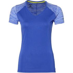 asics fuzeX V-Neck SS Top Women blue purple